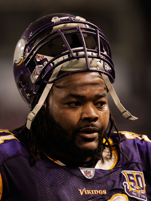 MINNEAPOLIS, MN - DECEMBER 05:  Phil Loadholt #71 of the Minnesota Vikings on the sideline against the Buffalo Bills at the Mall of America Field at the Hubert H. Humphrey Metrodome on December 5, 2010 in Minneapolis, Minnesota.  (Photo by Nick Laham/Gett