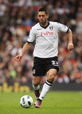 LONDON, ENGLAND - APRIL 03:  Clint Dempsey of Fulham in action during the Barclays Premier League match between Fulham and Blackpool at Craven Cottage on April 3, 2011 in London, England.  (Photo by Ian Walton/Getty Images)