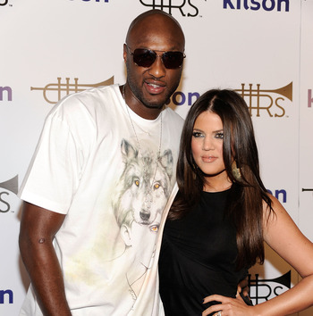 LOS ANGELES, CA - OCTOBER 21:  Lamar Odom of the Los Angeles Lakers and wife Khole Kardashian  arrive at the Lamar Odom Launches Rich Soil At Kitson LA event on October 21, 2009 in Los Angeles, California.  (Photo by Frazer Harrison/Getty Images)