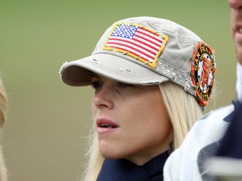 SAN FRANCISCO - OCTOBER 10: Elin Woods wife of Tiger Woods of the USA Team on the green at the 10th hole during the Day Three Afternoon Fourball Matches in The Presidents Cup at Harding Park Golf Course on October 10, 2009 in San Francisco, California  (P