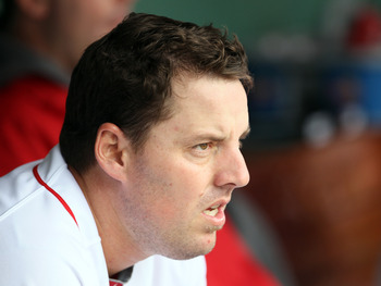 BOSTON, MA - MAY 05:  John Lackey #41 of the Boston Red Sox sits in the dugout before the game against the Los Angeles Angels on May 5, 2011 at Fenway Park in Boston, Massachusetts.  (Photo by Elsa/Getty Images)