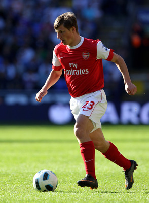 BOLTON, ENGLAND - APRIL 24:  Andrey Arshavin of Arsenal  in action during the Barclays Premier League match between Bolton Wanderers and Arsenal at the Reebok Stadium on April 24, 2011 in Bolton, England.  (Photo by Clive Brunskill/Getty Images)