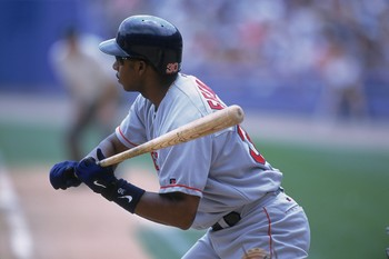 21 Jul 2001:  Jose Offerman #30 of the Boston Red Sox at bat during the game against the Chicago White Sox at Comiskey Park in Chicago, Illinois. The White Sox defeated the Red Sox 10-3.Mandatory Credit: Jonathan Daniel  /Allsport