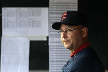 NEW YORK, NY - MAY 14:  Manager Terry Francona of the Boston Red Sox looks on before the game against the New York Yankees on May 14, 2011 at Yankee Stadium in the Bronx borough of New York City.  (Photo by Jim McIsaac/Getty Images)