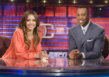 Jessica Alba loves Sports Center!
