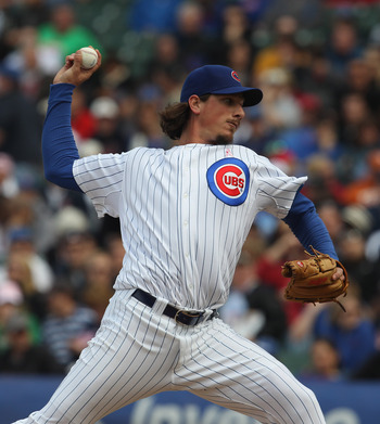 CHICAGO, IL - MAY 08: Jeff Samardzija #29 of the Chicago Cubs pitches against the Cincinnati Reds at Wrigley Field on May 8, 2011 in Chicago, Illinois. The Reds defeated the Cubs 2-0. (Photo by Jonathan Daniel/Getty Images)