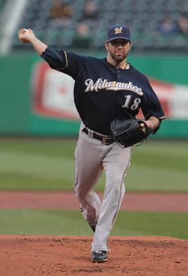 PITTSBURGH, PA - APRIL 13:  Shaun Marcum #18 of the Milwaukee Brewers throws a pitch before the start of their game against the Pittsburgh Pirates at PNC Park on April 13, 2011 in Pittsburgh, Pennsylvania.  (Photo by Scott Halleran/Getty Images)
