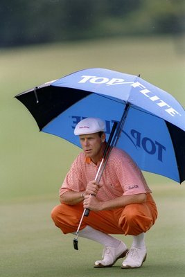 18 Oct 1997:  Payne Stewart looks on during the Disney Oldsmobile Classic at Lake Buena Vista in Orlando, Florida. Mandatory Credit: Matthew Stockman  /Allsport