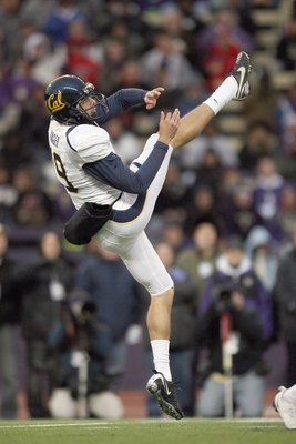 SEATTLE - DECEMBER 05: Bryan Anger #19 of the California Bears punts the ball during the game against the Washington Huskies on December 5, 2009 at Husky Stadium in Seattle, Washington. The Huskies defeated the Bears 42-10. (Photo by Otto Greule Jr/Getty