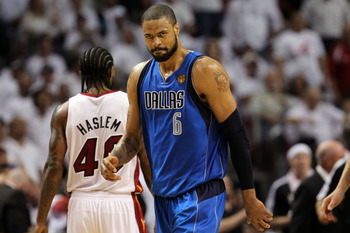 MIAMI, FL - JUNE 02:  Tyson Chandler #6 of the Dallas Mavericks looks on against the Miami Heat in Game Two of the 2011 NBA Finals at American Airlines Arena on June 2, 2011 in Miami, Florida. NOTE TO USER: User expressly acknowledges and agrees that, by