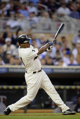 MINNEAPOLIS, MN - MAY 23: Delmon Young #21 of the Minnesota Twins bats against the Seattle Mariners during their game on May 23, 2011 at Target Field in Minneapolis, Minnesota. The Rockies won 6-5. (Photo by Hannah Foslien/Getty Images)