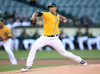 OAKLAND, CA - MAY 27:  Gio Gonzalez #47 of the Oakland Athletics pitches against the Baltimore Orioles during a Major League Baseball game at the Oakland-Alameda County Coliseum on May 27, 2011 in Oakland, California. (Photo by Jed Jacobsohn/Getty Images)