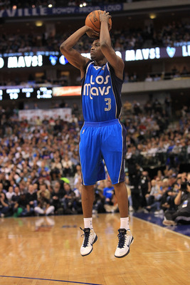 DALLAS, TX - MARCH 10:  Rodrique Beaubois #3 of the Dallas Mavericks at American Airlines Center on March 10, 2011 in Dallas, Texas.  NOTE TO USER: User expressly acknowledges and agrees that, by downloading and or using this photograph, User is consentin