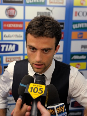 MODENA, ITALY - JUNE 02:  Giuseppe Rossi of Italy attends a press conference ahead of the EURO 2012 Group C qualifier against Estonia at Alberto Braglia Stadium on June 2, 2011 in Modena, Italy.  (Photo by Claudio Villa/Getty Images)