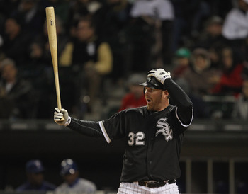 CHICAGO, IL - MAY 16: Adam Dunn #32 of the Chicago White Sox prepares to bat against the Texas Rangers at U.S. Cellular Field on May 16, 2011 in Chicago, Illinois. The Rangers defeated the White Sox 4-0. (Photo by Jonathan Daniel/Getty Images)