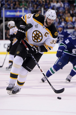 VANCOUVER, BC - JUNE 01:  Zdeno Chara #33 of the Boston Bruins skates against the Vancouver Canucks during game one of the 2011 NHL Stanley Cup Finals at Rogers Arena on June 1, 2011 in Vancouver, Canada.  (Photo by Harry How/Getty Images)