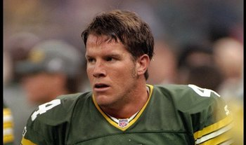 26 Jan 1997:  Quarterback Brett Favre of the Green Bay Packers looks on during Super Bowl XXXI against the New England Patriots at the Superdome in New Orleans, Louisiana.  The Packers won the game, 35-21. Mandatory Credit: Rick Stewart  /Allsport