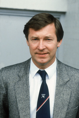 ABERDEEN - 1983:  Portrait of Aberdeen manager Alex Ferguson during a Scottish Premier Division match held in 1983 at Pittodrie Stadium, in Aberdeen, Scotland. (Photo by David Cannon/Getty Images)
