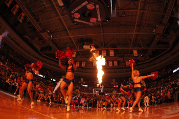 AUBURN HILLS, MI - FEBRUARY 11:  Automotion performs during a game between the Miami Heat and Detroit Pistons at The Palace of Auburn Hills on February 11, 2011 in Auburn Hills, Michigan.  (Photo by Gregory Shamus/Getty Images)