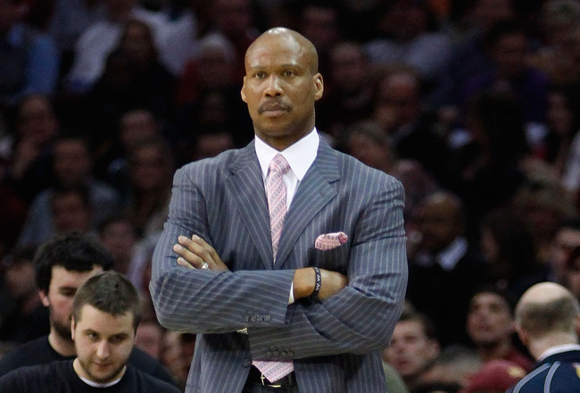 CLEVELAND - MARCH 29: Head coach Byron Scott of the Cleveland Cavaliers watches his team play during the game against the Miami Heat on March 29, 2011 at Quicken Loans Arena in Cleveland, Ohio. NOTE TO USER: User expressly acknowledges and agrees that, by