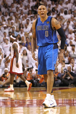 MIAMI, FL - JUNE 02:  Shawn Marion #0 of the Dallas Mavericks reacts against LeBron James #6 of the Miami Heat in Game Two of the 2011 NBA Finals at American Airlines Arena on June 2, 2011 in Miami, Florida. NOTE TO USER: User expressly acknowledges and a