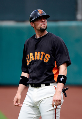 SCOTTSDALE, AZ - MARCH 14:  Chris Stewart #83 of the San Francisco Giants plays against the Milwaukee Brewers during the spring training baseball game at Scottsdale Stadium on March 14, 2011 in Scottsdale, Arizona.  (Photo by Kevork Djansezian/Getty Image