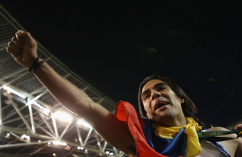 DUBLIN, IRELAND - MAY 18:  Radamel Falcao Garcia of FC Porto celebrates victory during the UEFA Europa League Final between FC Porto and SC Braga at Dublin Arena on May 18, 2011 in Dublin, Ireland.  (Photo by Scott Heavey/Getty Images)