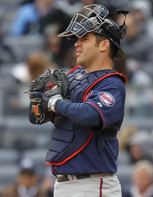 The good news is Joe Mauer has been catching some games in extended spring trainging for the Twins.