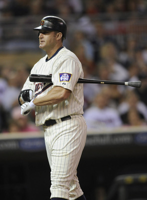 MINNEAPOLIS, MN - MAY 23: Jim Thome #25 of the Minnesota Twins reacts to a pitch by the Seattle Mariners during their game on May 23, 2011 at Target Field in Minneapolis, Minnesota. The Rockies won 6-5. (Photo by Hannah Foslien/Getty Images)