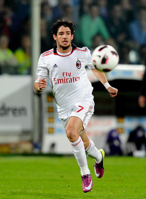 FLORENCE, ITALY - APRIL 10:  Alexandre Pato of AC Milan in action during the Serie A match between ACF Fiorentina and AC Milan at Stadio Artemio Franchi on April 10, 2011 in Florence, Italy.  (Photo by Claudio Villa/Getty Images)