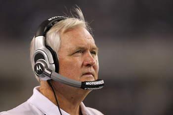 ARLINGTON, TX - OCTOBER 25:  Head coach Wade Phillips of the Dallas Cowboys at Cowboys Stadium on October 25, 2010 in Arlington, Texas.  (Photo by Ronald Martinez/Getty Images)