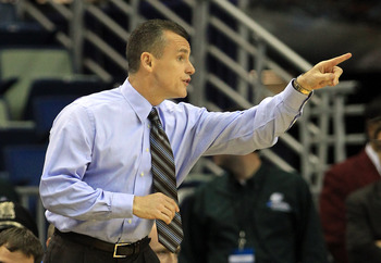 NEW ORLEANS, LA - MARCH 24:  Head coach Billy Donovan of the Florida Gators yells to his team during their game against the Brigham Young Cougars in the Southeast regional of the 2011 NCAA men's basketball tournament at New Orleans Arena on March 24, 2011