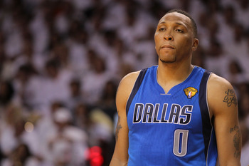 MIAMI, FL - MAY 31:  Shawn Marion #0 of the Dallas Mavericks looks on against the Miami Heat in Game One of the 2011 NBA Finals at American Airlines Arena on May 31, 2011 in Miami, Florida. NOTE TO USER: User expressly acknowledges and agrees that, by dow