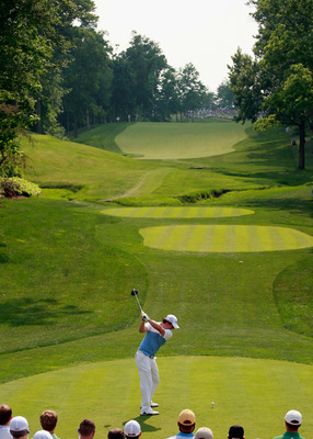 DUBLIN, OH - JUNE 04:  Rory McIlroy of Northern Ireland hits his tee shot on the 15th hole during the third round of the Memorial Tournament presented by Nationwide Insurance at the Muirfield Village Golf Club on June 4, 2011 in Dublin, Ohio.  (Photo by S