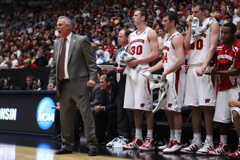 TUCSON, AZ - MARCH 19:  Head coach Bo Ryan of the Wisconsin Badgers coaches his team against the Kansas State Wildcats in the third round of the 2011 NCAA men's basketball tournament at McKale Center on March 19, 2011 in Tucson, Arizona.  (Photo by Christ