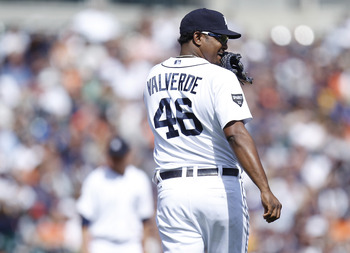 Jose Valverde is one of six active pitchers with at least 200 saves.