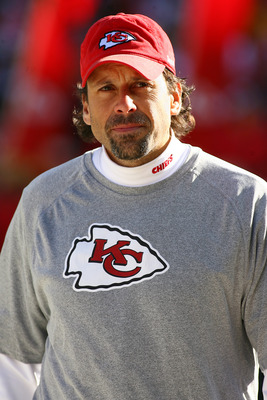 KANSAS CITY, MO - JANUARY 02:  Head coach Todd Haley of the Kansas City Chiefs takes the field before a game against the Oakland Raiders at Arrowhead Stadium on January 2, 2011 in Kansas City, Missouri.  (Photo by Tim Umphrey/Getty Images)
