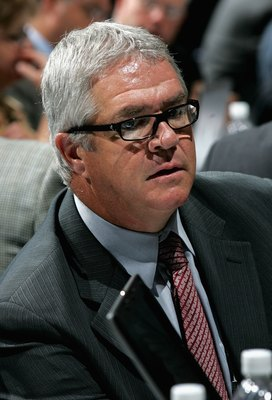 COLUMBUS, OH - JUNE 23:  General manager Dale Tallon attends the 2007 NHL Entry Draft at Nationwide Arena on June 23, 2007 in Columbus, Ohio.  (Photo by Bruce Bennett/Getty Images)