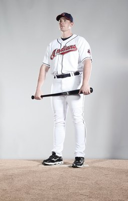 GOODYEAR, AZ - FEBRUARY 28:  (EDITORS NOTE: This images was digitally desaturated.) Nick Weglarz #71 poses for a portrait during the Cleveland Indians Photo Day at the training complex at Goodyear Stadium on February 28, 2010 in Goodyear, Arizona.  (Photo