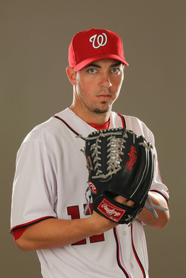 VIERA, FL - FEBRUARY 25:  Sean Burnett #17 of the Washington Nationals poses for a portrait during Spring Training Photo Day at Space Coast Stadium on February 25, 2011 in Viera, Florida.  (Photo by Al Bello/Getty Images)
