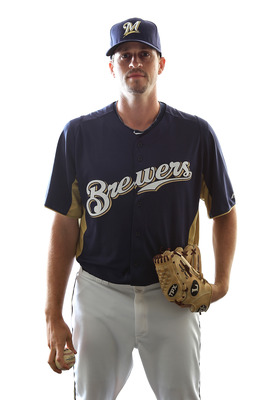 MARYVALE, AZ - FEBRUARY 24:  Sean Green #54 of the Milwaukee Brewers poses for a portrait during Spring Training Media Day on February 24, 2011 at Maryvale Stadium in Maryvale, Arizona.  (Photo by Jonathan Ferrey/Getty Images)
