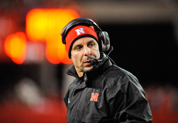LINCOLN, NE - NOVEMBER 26: Defensive Coordinator Carl Pelini of the Nebraska Cornhuskers during their game against the Colorado Buffaloes at Memorial Stadium on November 26, 2010 in Lincoln, Nebraska. Nebraska defeated Colorado 45-17 (Photo by Eric Franci