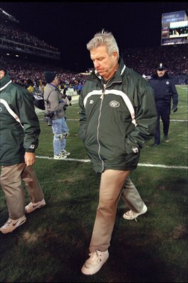 17 Jan 1999: Head coach Bill Parcells of the New York Jets walks off the field during the AFC Championship Game against the Denver Broncos at Mile High Stadium in Denver, Colorado. The Broncos defeated the Jets 23-10. Mandatory Credit: Brian Bahr  /Alls