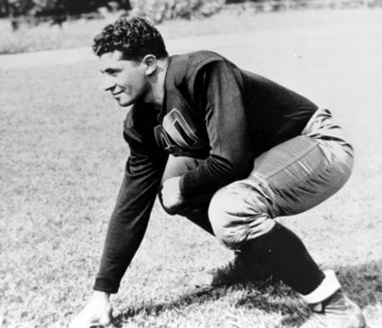 Future Pro Football Hall of Fame head coach of the Green Bay Packers Vince Lombardi poses here as a student at Fordham University circa the mid-1930s. (Photo by Fordham University/Getty Images)