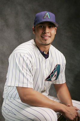TUCSON, AZ - FEBRUARY 25:  Sergio Santos of the Arizona Diamondbacks poses for a portrait during Diamondbacks Photo Day at Tucson Electric Park on February 25, 2005 in Tucson, Arizona.  (Photo by Brian Bahr/Getty Images)