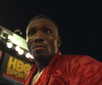 20 Sep 1996:  Pernell Whitaker looks on during a bout against Wilfredo Rivera at the James L. Knight Center in Miami, Florida.  Whitaker won the fight in twelve rounds. Mandatory Credit: Al Bello/Allsport