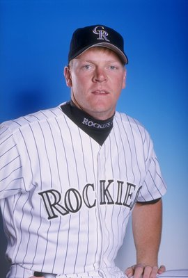 23 Feb 1998: John Burke #37 of the Colorado Rockies at Spring Training at the Hi Corbett Field in Tuscon, Arizona.