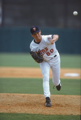 4 Mar 2001:  Ryan Mills #60 of the Minnesota Twins throws the ball during the Spring Training Game against the Boston Red Sox at the Hammond Stadium in Fort Myers, Florida. The Twins defeated the Red Sox 5-4.Mandatory Credit: Ezra Shaw  /Allsport