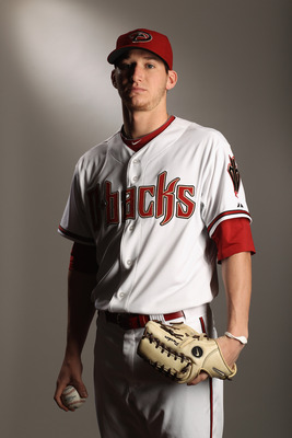 SCOTTSDALE, AZ - FEBRUARY 21:  Jarrod Parker #61 of the Arizona Diamondbacks poses for a portrait at Salt River Fields at Talking Stick on February 21, 2011 in Scottsdale, Arizona.  (Photo by Ezra Shaw/Getty Images)