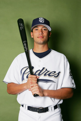 PEORIA, AZ - FEBRUARY 26:  Matt Bush poses for a portrait during the San Diego Padres Photo Day at Peoria Stadium on February 26, 2006 in Peoria, Arizona.  (Photo by Ronald Martinez/Getty Images)